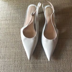 Zara patent leather kitten heels